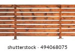 Wooden Fence With Horizontal...