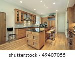 kitchen in suburban home with... | Shutterstock . vector #49407055