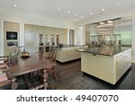 kitchen in luxury home with... | Shutterstock . vector #49407070