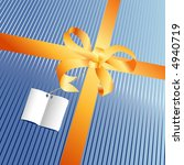 blue gift with paper for message   Shutterstock .eps vector #4940719