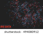 big data visualization.... | Shutterstock .eps vector #494080912