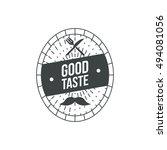 classic retro restaurant badge... | Shutterstock .eps vector #494081056