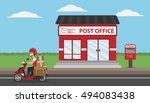 post office service with... | Shutterstock .eps vector #494083438