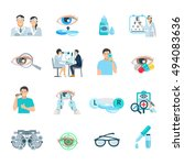 ophthalmologist vision... | Shutterstock .eps vector #494083636