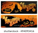 halloween sale. vector... | Shutterstock .eps vector #494093416
