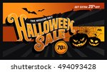 halloween sale. vector... | Shutterstock .eps vector #494093428