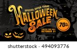 Halloween Sale. Vector...