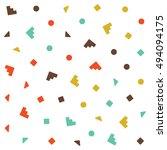 vector seamless pattern jumble... | Shutterstock .eps vector #494094175