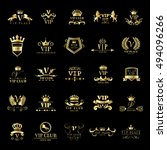 vip logo set   isolated on... | Shutterstock .eps vector #494096266