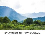 the mountains and rural scenery ... | Shutterstock . vector #494100622