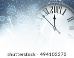 2017 new year background with... | Shutterstock .eps vector #494102272