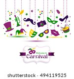 bright vector carnival with... | Shutterstock .eps vector #494119525