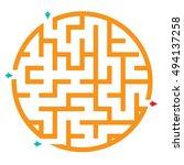 quiz game for kids. maze game... | Shutterstock . vector #494137258