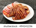 tasty and spicy fish fry from... | Shutterstock . vector #494141236