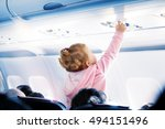 Child In The Salon Aircraft...