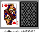 queen of hearts playing card... | Shutterstock .eps vector #494151622