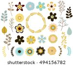 vector collection of retro... | Shutterstock .eps vector #494156782