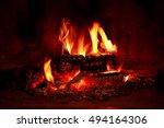 close up shot of burning... | Shutterstock . vector #494164306