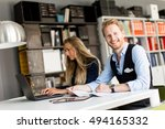 young business people are in... | Shutterstock . vector #494165332