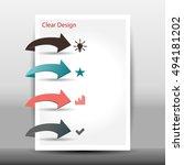 vector illustration of modern... | Shutterstock .eps vector #494181202