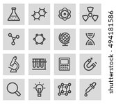 vector black line science icons ... | Shutterstock .eps vector #494181586