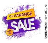 clearance sale  banner  poster  ... | Shutterstock .eps vector #494183272