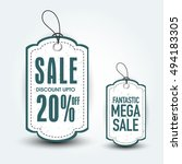fantastic mega sale tags with... | Shutterstock .eps vector #494183305