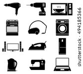 appliances for the home  vector ... | Shutterstock .eps vector #494185366