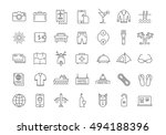 set vector line icons travel ... | Shutterstock .eps vector #494188396