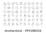 set vector line icons in flat... | Shutterstock .eps vector #494188426