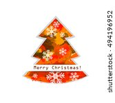 merry christmas. vector | Shutterstock .eps vector #494196952