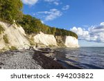 baltic sea coast with famous... | Shutterstock . vector #494203822