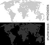 dotted world map. set of two... | Shutterstock .eps vector #494206006