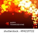 happy thanksgiving background | Shutterstock . vector #494219722