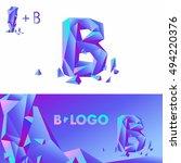 template b brand name companies.... | Shutterstock .eps vector #494220376