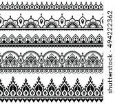 mehndi  indian henna tattoo... | Shutterstock .eps vector #494222362