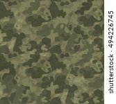 military camouflage seamless... | Shutterstock .eps vector #494226745