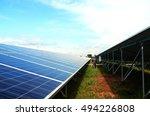a  man  working at solar panels. | Shutterstock . vector #494226808