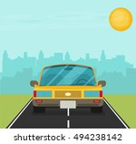 picture of car on the road with ... | Shutterstock .eps vector #494238142