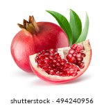Pomegranates Isolated On The...