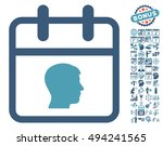 personal day icon with bonus... | Shutterstock .eps vector #494241565