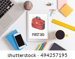 first aid concept | Shutterstock . vector #494257195
