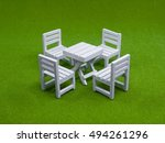 white wooden many chair and... | Shutterstock . vector #494261296