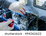 installation of electrical | Shutterstock . vector #494262622
