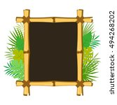 bamboo frame with tropical... | Shutterstock .eps vector #494268202