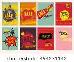 seasonal big autumn sale.... | Shutterstock .eps vector #494271142