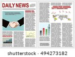 graphical design newspaper... | Shutterstock .eps vector #494273182