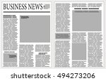 graphical design newspaper... | Shutterstock .eps vector #494273206