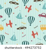 transport seamless pattern....   Shutterstock .eps vector #494273752