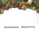 christmas decoration with pine... | Shutterstock . vector #494274772